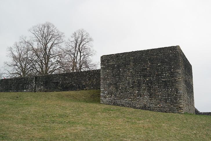 tour, tour du château, Château, Kastell irgenhausen, fort romain, Irgenhausen, Pfäffikon