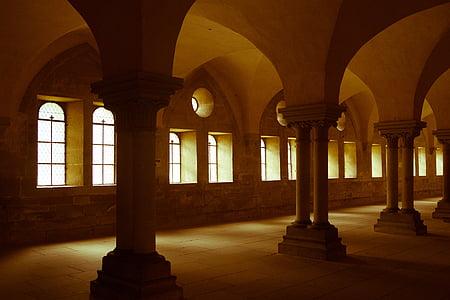 arcs, arquitectura, columnes, corredor, passadís, històric, Monument