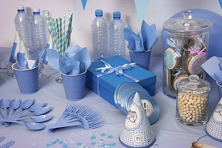 l'adoption de, Parti, événement, table à manger, enfant, préparation de la, décoration