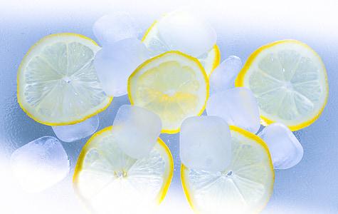 llimones, gel, l'estiu, còctel, calç, glaçons de gel