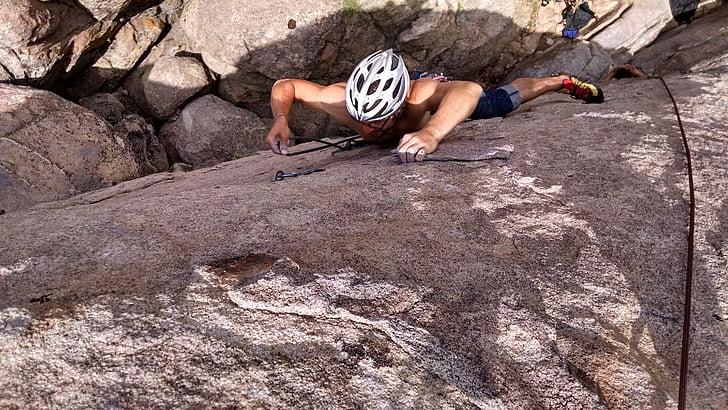 escalada en roca, escalada clàssica, escalada, difícil, esforç, corda