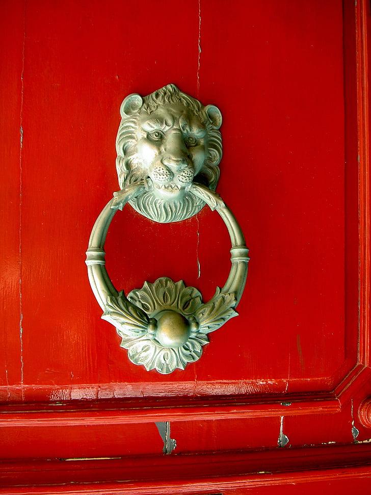 lõvi, sureb, koputaja, Malta, ukse koputaja, arhitektuur, uks