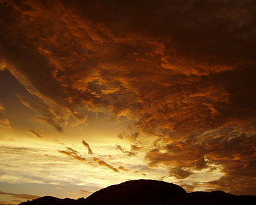вечір, хмари, Захід сонця, післясвічення, abendstimmung