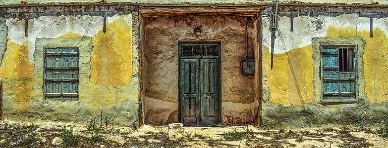 stary dom, porzucone, w wieku, wyblakły, Próchnica, Architektura, tradycyjne