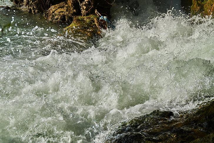cascada, l'aigua, injectar