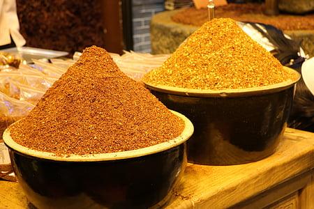 bột, thực phẩm, hạt nêm, gia vị, Bột cà ri, paprika, nền văn hóa