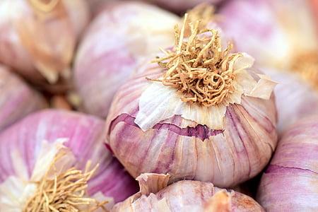 češnjak, mediteranska, začin, kuhati, zdrav, hrana, gomolja