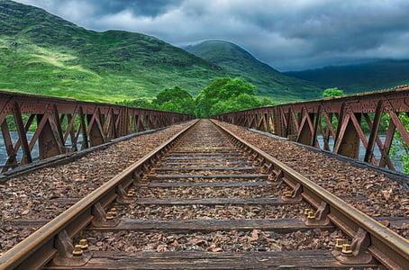ferrocarril, semblava, pista, tren, llocs perduts, Via fèrria, sense fi