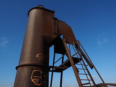 llar de foc, xemeneia, forn de calç, forn de l'eix, planta industrial, monument històric, Monument