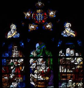 Notre, Dame, Catedral, França, arquitectura, vidre, vitralls