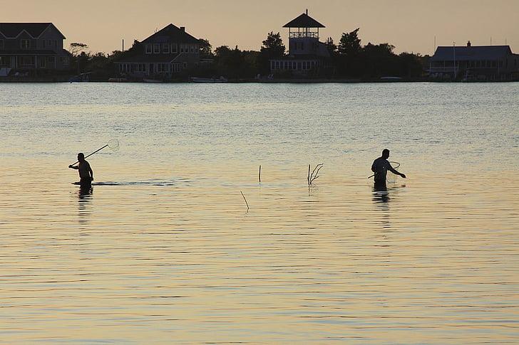 ryby, Rybolov, rybár, Bay, vody, ľudia, dom