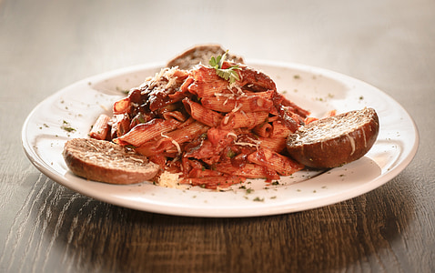 pasto, salsa, ristorante, piastra, delizioso, gustoso, cena