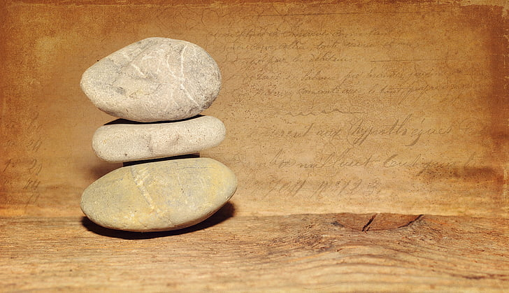 stones, wood, old, stone tower, tower, balance, silent