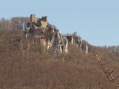 reußenstein, замък, разруха, Рицарски замък, сграда, екскурзия, повече