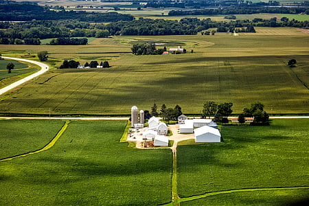 wisconsin, aerial view, farm, landscape, scenic, nature, outdoors