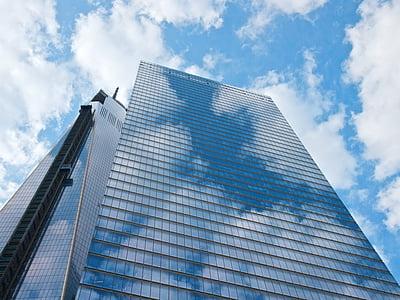 taevas, linnaruumi, pilvelõhkuja, arhitektuur, City, Urban, kaasaegne