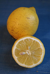 レモン, レモンの半分, サワー, イエロー, フルーツ, ビタミン c, 柑橘類