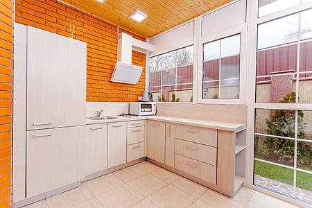 keuken, huis, Cottage