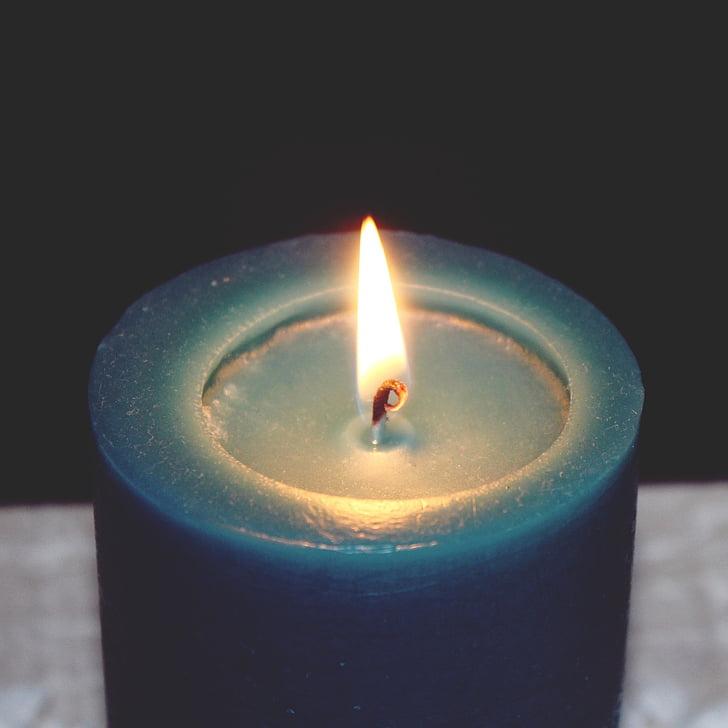 Свічка, полум'я, записування, світло, вогонь, при свічках, тепло
