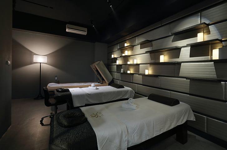 kosmetolog, luksus grand formosa regent, hot springs, indendørs, design, massage, slappe af