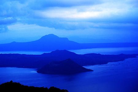 fons blau, l'aigua, relaxant, muntanyes, Llac, blau, fons