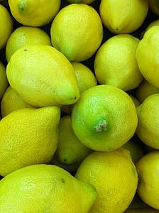 limun, voće, citrusa, svježe, hrana, zdrav, organski