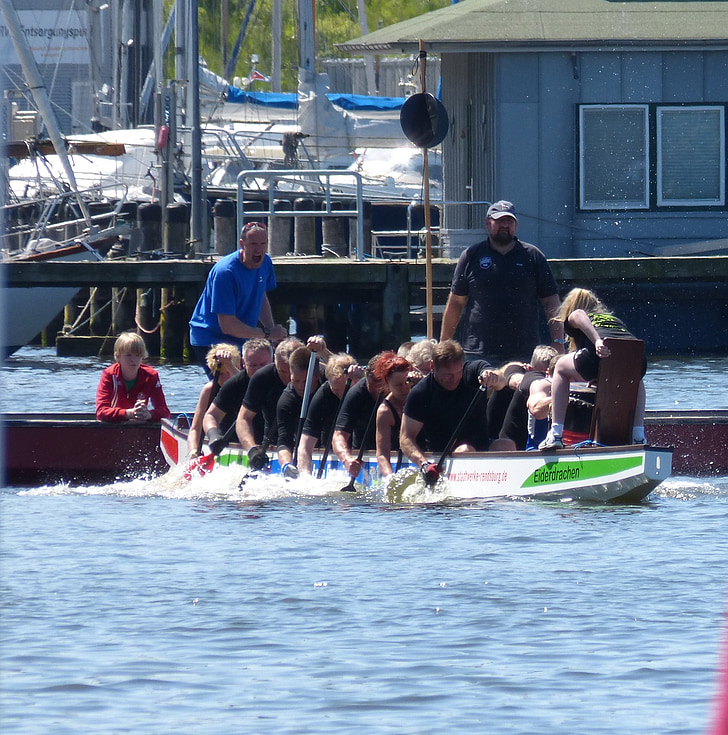 dragen båd, boot, vandsport, konkurrence, Sport, pagaj, dragonboat