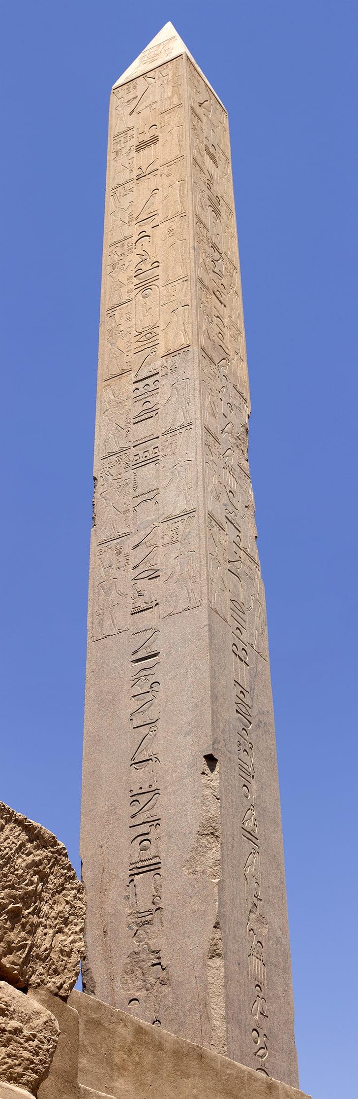 obelisk, karnak, temple, nile, luxor, egypt, culture