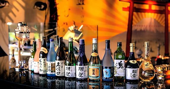 饮料, 瓶, 清酒, 涮锅, 餐厅, 缘故吧, 日本