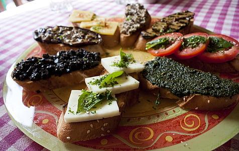 talijanski, hrana, kruh, večera, zdrav, obrok, kuhinje