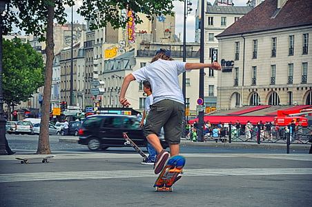 skateboard, adolescence, urban sport, urban activity, boy, youth, cool