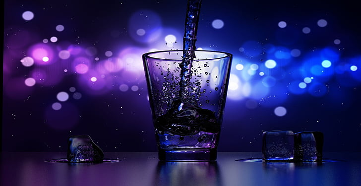 jook, Cup, hilisõhtul, Baar, pubi, jää, veini