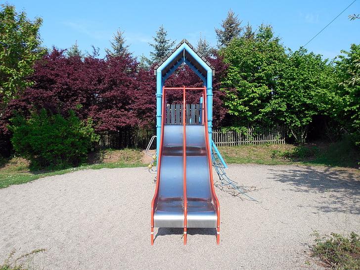 hřiště, herní zařízení, snímek, zábava, dětské hřiště, hrát, venku