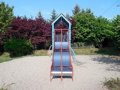 playground, game device, slide, fun, children's playground, play, outdoors