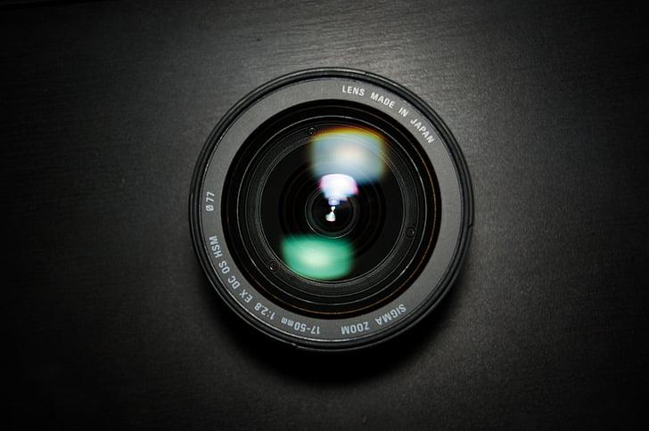 lent, Sigma, 17-50, Amplia-ho, fotos, fotògraf, vidre