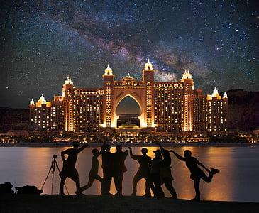 Dubai, Palma, centre comercial, composició, creatiu, Photoshop, Via Làctia