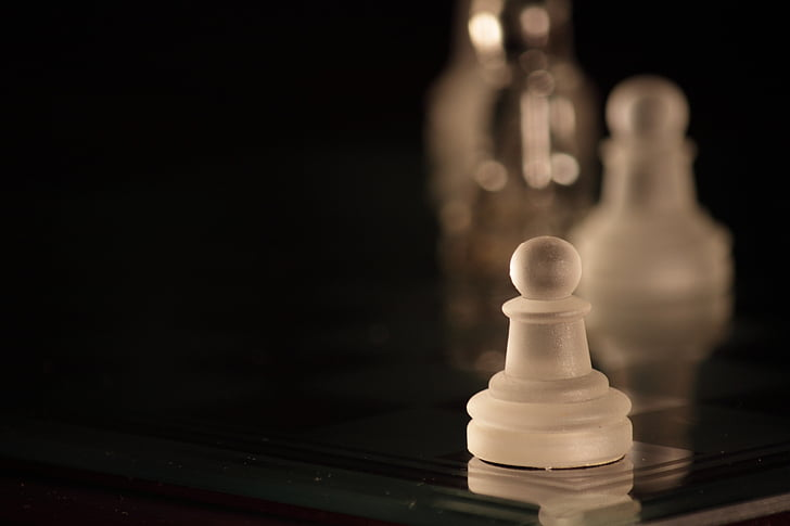 chess, pawn, white, parts, pawns, game, strategy