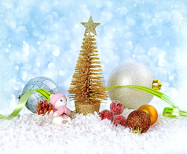 Natal, tahun baru, latar belakang, musim dingin, salju, embun beku, liburan