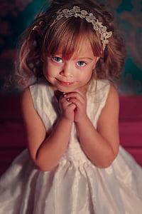 dekle, otroci, otroka, otrok, lepo, otroštvo, portret