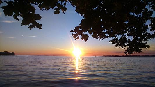 ηλιοβασίλεμα, Ήλιος, βραδινό ουρανό, Δύση του ήλιου, φύση, abendstimmung, Λυκόφως