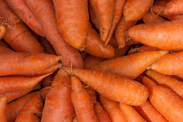 carrots, fresh, food, cart, farmers market, vegetable, agriculture