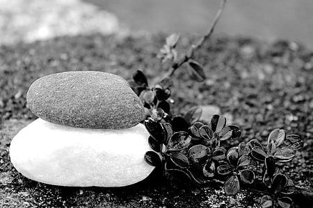 stenar, Meditation, balans, avkoppling, gartendeko, trädgård design, resten