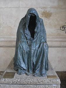 estatua de, bronce, estatua de calle, estatua de bronce, velo, mujeres, Monumento