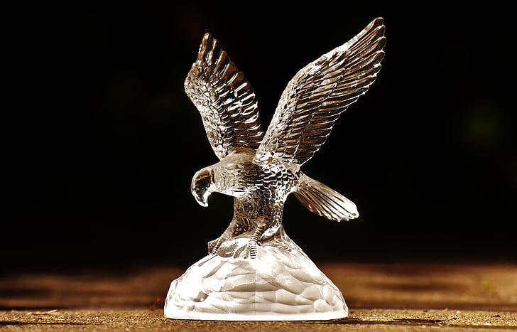 raptor, adler, glass, figure, bird of prey, animals, bird