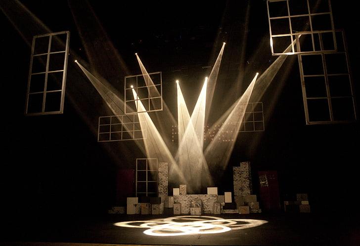 teater, lys, belysning