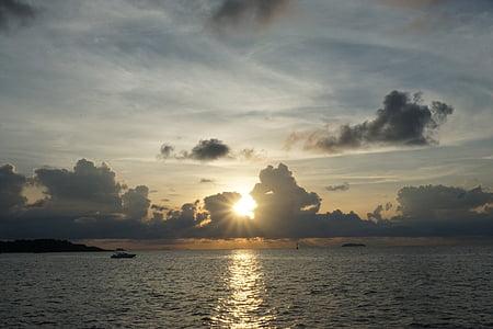 Alba, núvols, cel, Tailàndia, Mar, matí, morgenstimmung