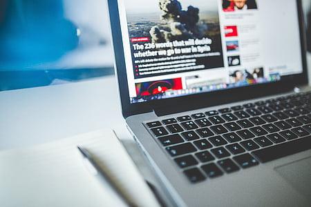 браузер, комп'ютер, Глибина різкості, відображення, електроніка, Інтернет, клавіатура
