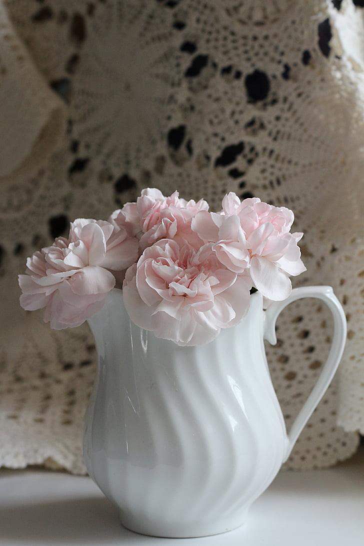 bloem, roze, wit, Floral, Petal, vers, boeket