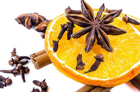kaneel, Spice, gekruide, kruidnagel, stok, decoratie, koude