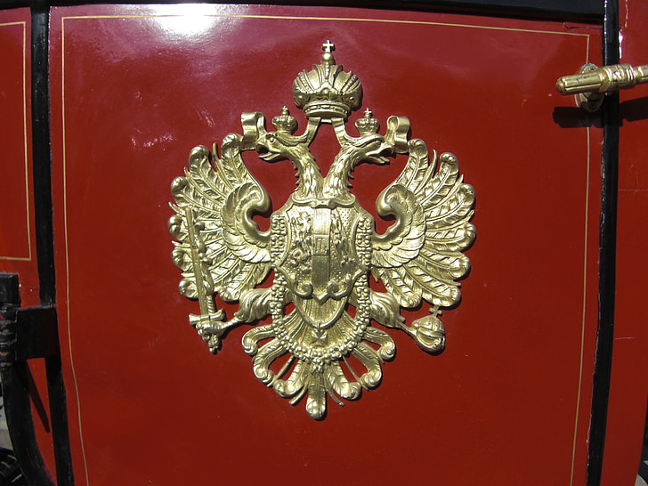 vienna, austria, coach, coat of arms, double eagle, k and k monarchy, old